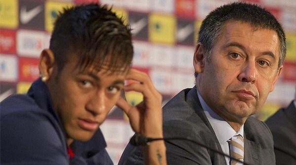 Josep Maria Bartomeu dan Neymar